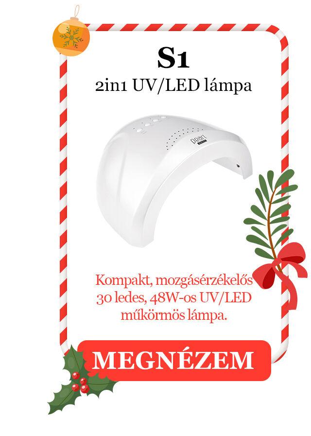 S1 2in1 UV/LED lámpa Kompakt, mozgásérzékelős,  30 ledes, 48W-os UV/LED műköröm lámpa.