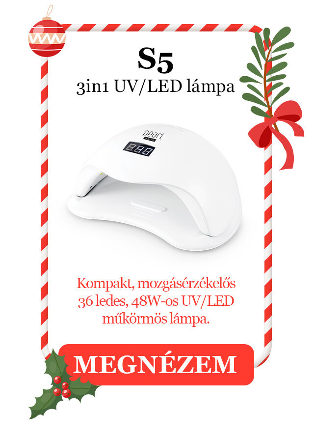 S5 3in1 UV/LED lámpa Kompakt, mozgásérzékelős,  36 ledes, 48W-os UV/LED műköröm lámpa.