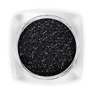 Csillámpor - Black (durvább) - tégelyes