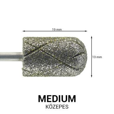 Hengeres gyémánt csiszolófej pedikűrhöz - kereszt vágott
