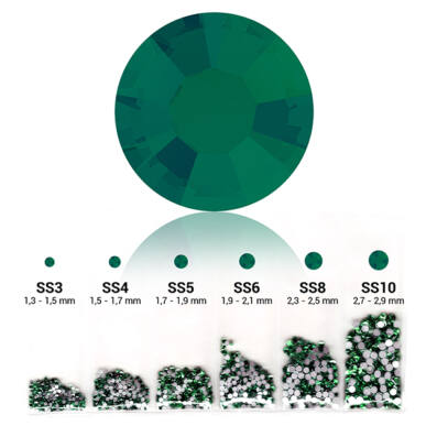 6in1 strasszkő szett - Emerald