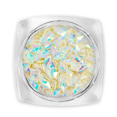 3D Gyémánt flitter - halvány sárga G11
