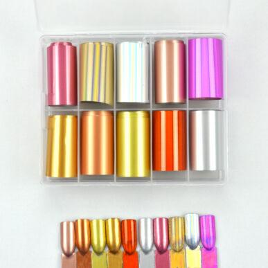 Pearl Nails 10in1 Transzferfólia box - Golden Shades