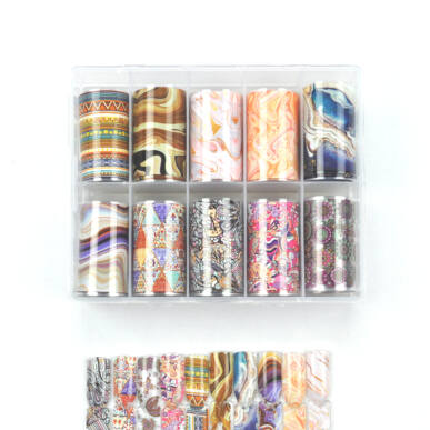 Pearl Nails 10in1 Transzferfólia szett - Abstracts