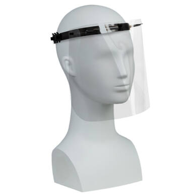 Plexi arcvédő pajzs - 295x190mm
