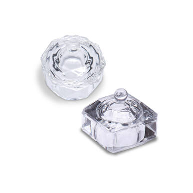 Pearl Nails üvegtégely fedővel szögletes és kerek