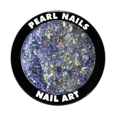 Pearl Nails Galaxy Metal Flakes - Blue körömdíszítő chrome flakes