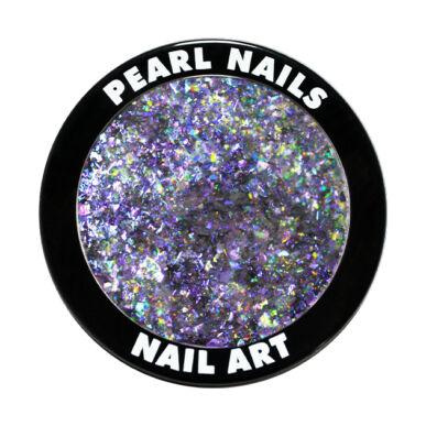 Galaxy Metal Flakes - Purple körömdíszítő chrome flakes