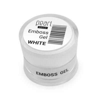 Pearl Nails Emboss Gel fehér