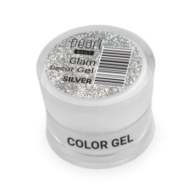 Pearl Nails Glam Decor Gel - Ezüst extra csillámos dekorzselé