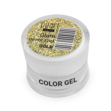 Pearl Nails Glam Decor Gel - Gold extra csillámos dekorzselé
