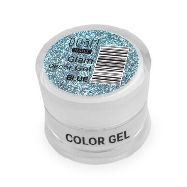 Pearl Nails Glam Decor Gel - Blue extra csillámos dekorzselé