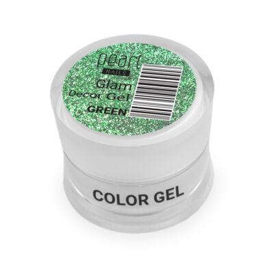 Pearl Nails Glam Decor Gel - Green extra csillámos dekorzselé