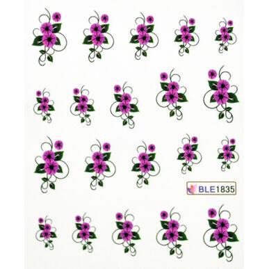 Virágos körömmatrica vizes BLE1835