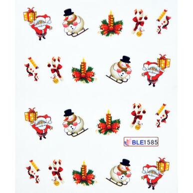 Karácsonyi körömmatrica vizes BLE1585