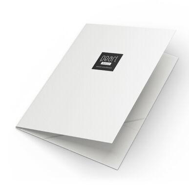 Fehér iratgyűjtő mappa Pearl Nails logóval