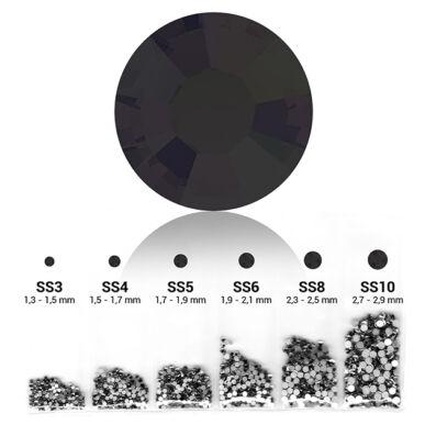 Fekete 6in1 Strasszkő szett - 6 méretben