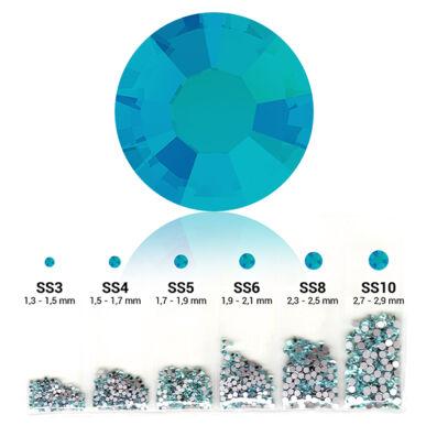 Világos kék 6in1 Strasszkő szett - 6 méretben