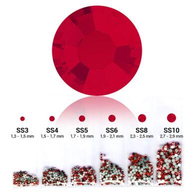 Piros 6in1 Strasszkő szett - 6 méret