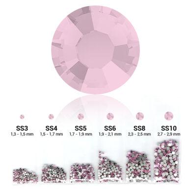 Világos rózsaszín 6in1 Strasszkő szett - 6 méret
