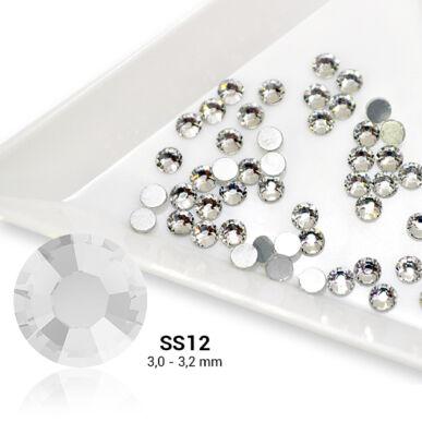 Pearl Nails ezüst strasszkő SS12 - 50db