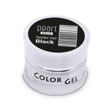 Pearl Nails Spider Gel fekete díszítő zselé