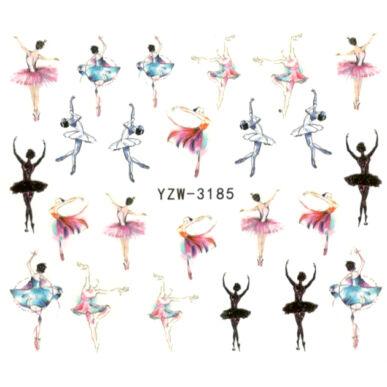 Vizes körömmatrica YZW-3185 balerina matrica