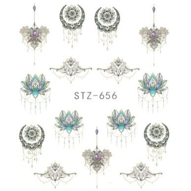 Vizes körömmatrica STZ-656 tatto minta