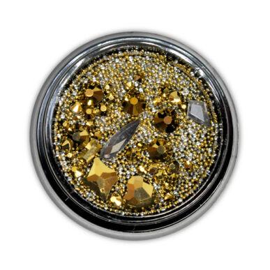 Diamond szórógyöngy-mix - DARK GOLD