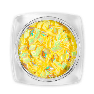 3D Gyémánt flitter sárga G12