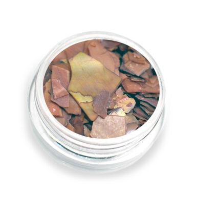 Pearly flakes barna P2 kagylólapszelet