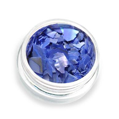 Pearly flakes kék P4 kagylólapszelet körömdísz