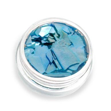 Pearly flakes világoskék P6 kagylólapszelet körömdísz