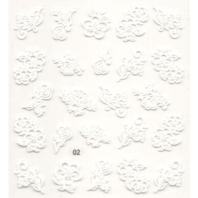 3D Virág körömmatrica 002