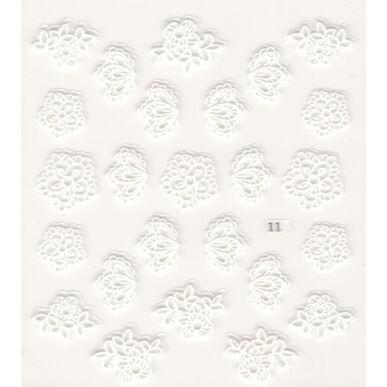 3D Virág körömmatrica 011