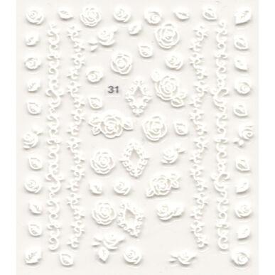 3D Virágos körömmatrica 031