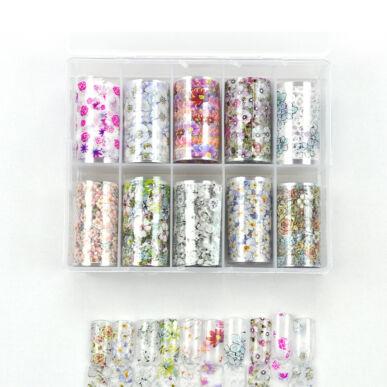 Pearl Nails 10in1 Transzferfólia box - Flowers